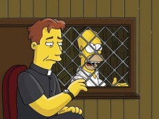 The Simpsons 16x21 : The Father, The Son, and The Holy Guest Star- Seriesaddict